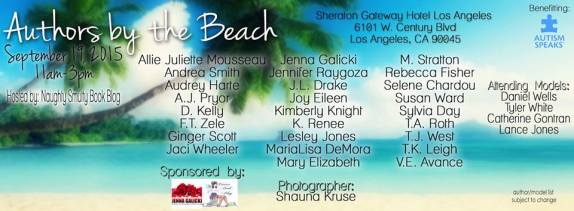 authors by the beach